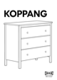 IKEA KOPPANG CHEST W/ 3 DRAWERS Assembly Instruction - 1