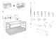 "IKEA KURA REVERSIBLE BED 38X75"" Assembly Instruction - 3"