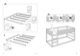 "IKEA KURA REVERSIBLE BED 38X75"" Assembly Instruction - 4"