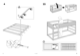 "IKEA KURA REVERSIBLE BED 38X75"" Assembly Instruction - 6"