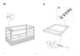 "IKEA KURA REVERSIBLE BED 38X75"" Assembly Instruction - 9"