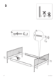 IKEA LEIRVIK BED FRAME FULL, QUEEN & KING Assembly Instruction - 4