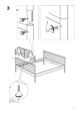 IKEA LEIRVIK BED FRAME FULL, QUEEN & KING Assembly Instruction - 5