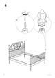 IKEA LEIRVIK BED FRAME FULL, QUEEN & KING Assembly Instruction - 6