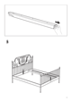 IKEA LEIRVIK BED FRAME FULL, QUEEN & KING Assembly Instruction - 7