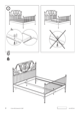 IKEA LEIRVIK BED FRAME FULL, QUEEN & KING Assembly Instruction - 8