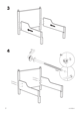 "IKEA LEKSVIK EXTENDABLE BED FRAME 38X75"" Assembly Instruction - 4"