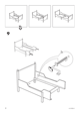 "IKEA LEKSVIK EXTENDABLE BED FRAME 38X75"" Assembly Instruction - 8"