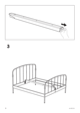 IKEA LILLESAND BED FRAME FULL, QUEEN & KING Assembly Instruction - 6