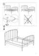 IKEA LILLESAND BED FRAME FULL, QUEEN & KING Assembly Instruction - 7