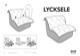 IKEA LYCKSELE CHAIR BED COVER Assembly Instruction - 1