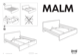 IKEA MALM BED FRAME QUEEN Assembly Instruction - 1