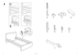 IKEA MALM BED FRAME TWIN Assembly Instruction - 3