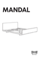IKEA MANDAL BED FRAME FULL/DOUBLE Assembly Instruction - 1