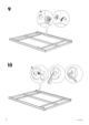 IKEA MANDAL BED FRAME FULL/DOUBLE Assembly Instruction - 8