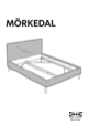 IKEA MÃRKEDAL HEADBOARD/FOOTBOARD FULL/DOUBLE Assembly Instruction - 1