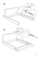 IKEA MÃRKEDAL HEADBOARD/FOOTBOARD FULL/DOUBLE Assembly Instruction - 6
