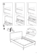 IKEA MÃRKEDAL HEADBOARD/FOOTBOARD FULL/DOUBLE Assembly Instruction - 9