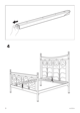 IKEA NORESUND HEADBOARD/FOOTBOARD KING Assembly Instruction - 6