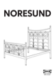 IKEA NORESUND HEADBOARD/FOOTBOARD QUEEN Assembly Instruction - 1