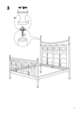 IKEA NORESUND HEADBOARD/FOOTBOARD QUEEN Assembly Instruction - 5