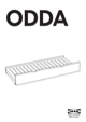 IKEA ODDA PULL OUT BED TWIN Assembly Instruction - 1