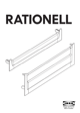 "IKEA RATIONELL DRAWER FRONT 24"" Assembly Instruction - 1"