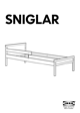 IKEA SNIGLAR BED FRAME W/ GUIDE RAIL Assembly Instruction - 1