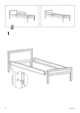IKEA SNIGLAR BED FRAME W/ GUIDE RAIL Assembly Instruction - 4