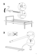 IKEA SNIGLAR BED FRAME W/ GUIDE RAIL Assembly Instruction - 5