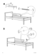 IKEA SNIGLAR BED FRAME W/ GUIDE RAIL Assembly Instruction - 6
