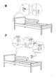 IKEA SNIGLAR BED FRAME W/ GUIDE RAIL Assembly Instruction - 7