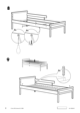 IKEA SNIGLAR BED FRAME W/ GUIDE RAIL Assembly Instruction - 8