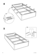 IKEA SULTAN ALSARP BED BASE Assembly Instruction - 8