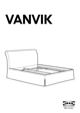 IKEA VANVIK QUEEN BED FRAME Assembly Instruction - 1