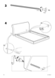 IKEA VANVIK QUEEN BED FRAME Assembly Instruction - 6