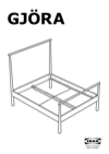 IKEA GJÖRA bed frame Assembly Instruction - 1