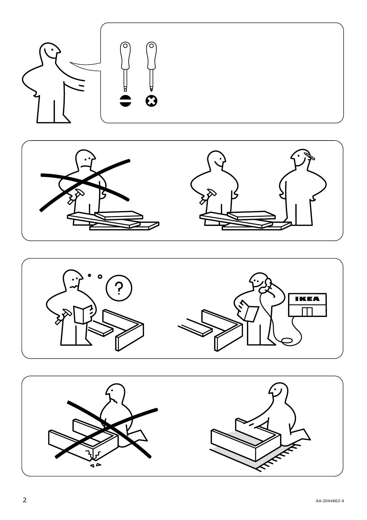 IKEA NEIDEN bed frame Manual