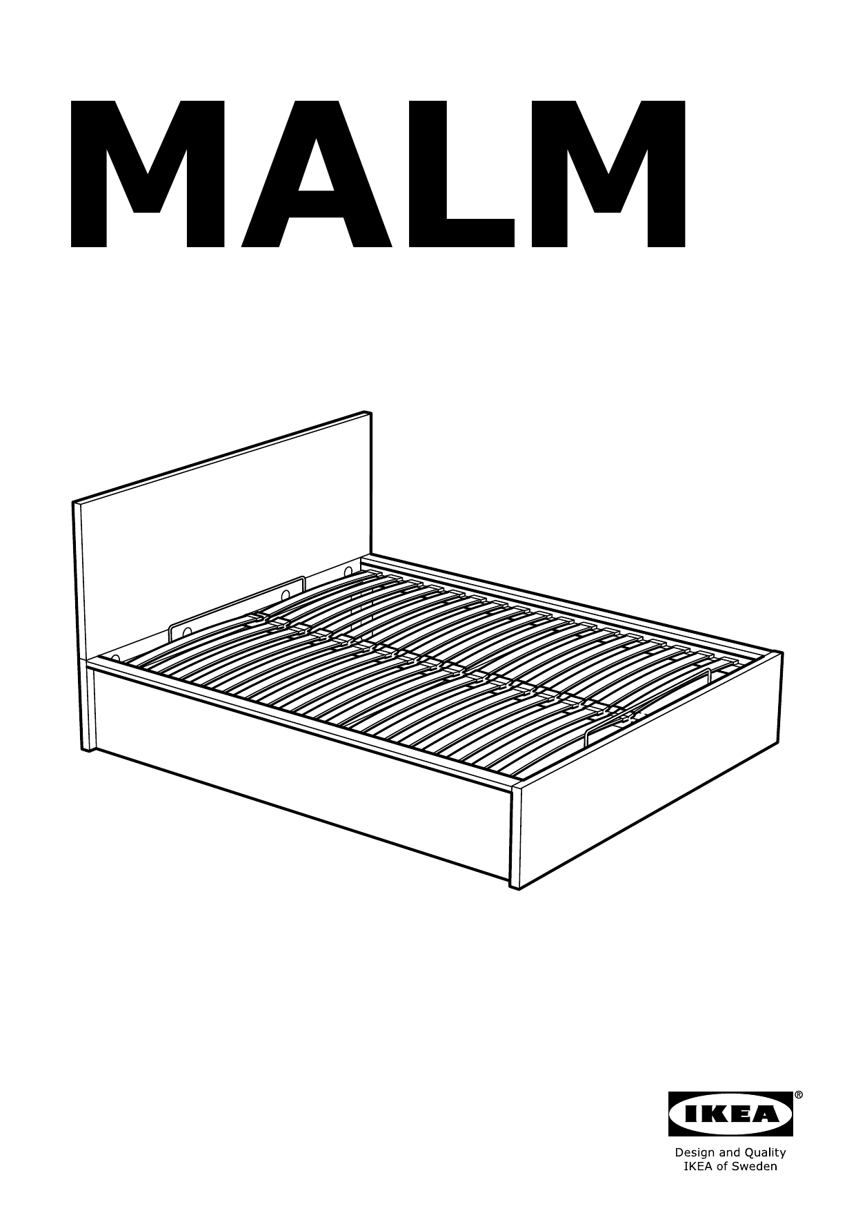 IKEA MALM Storage bed Assembly Instruction - 1