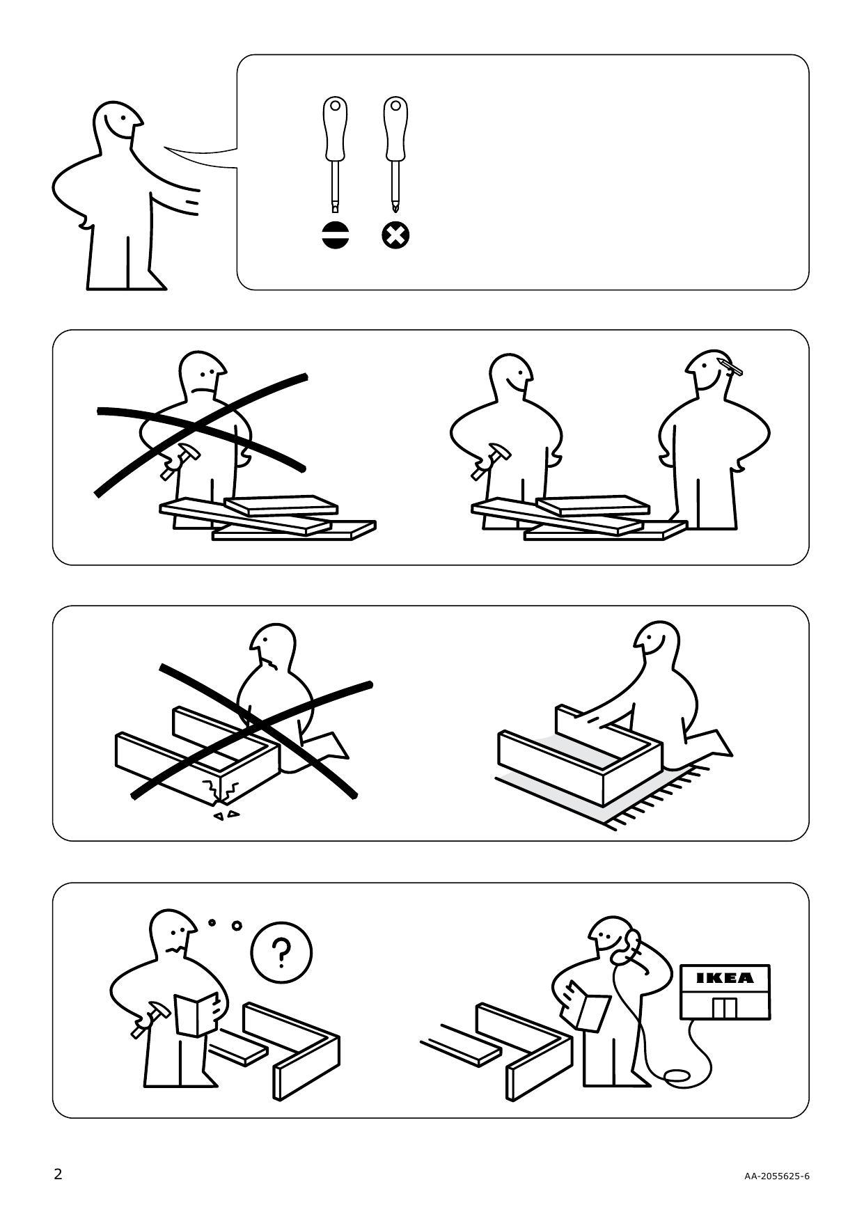 IKEA MALM Storage bed Assembly Instruction - 2