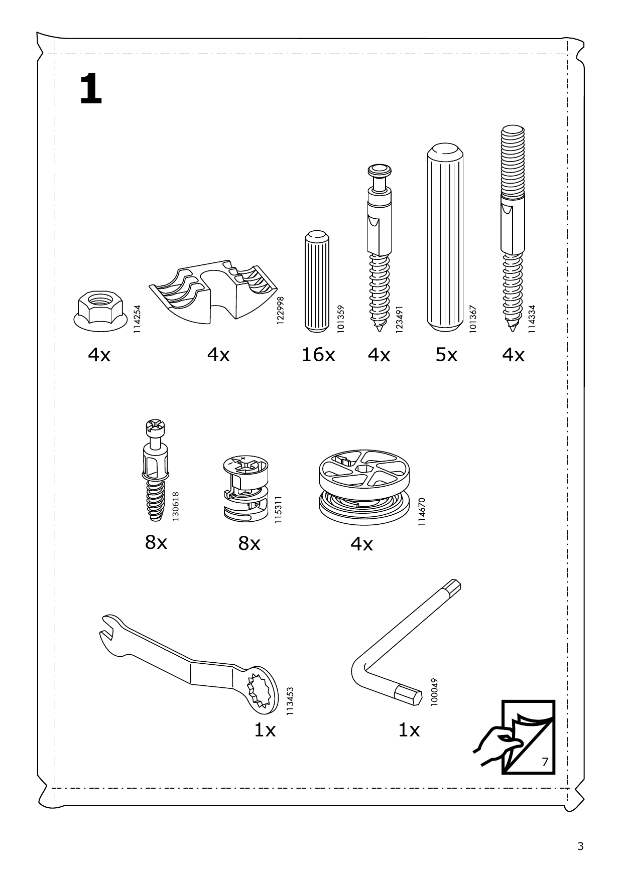 IKEA MALM Storage bed Assembly Instruction - 3
