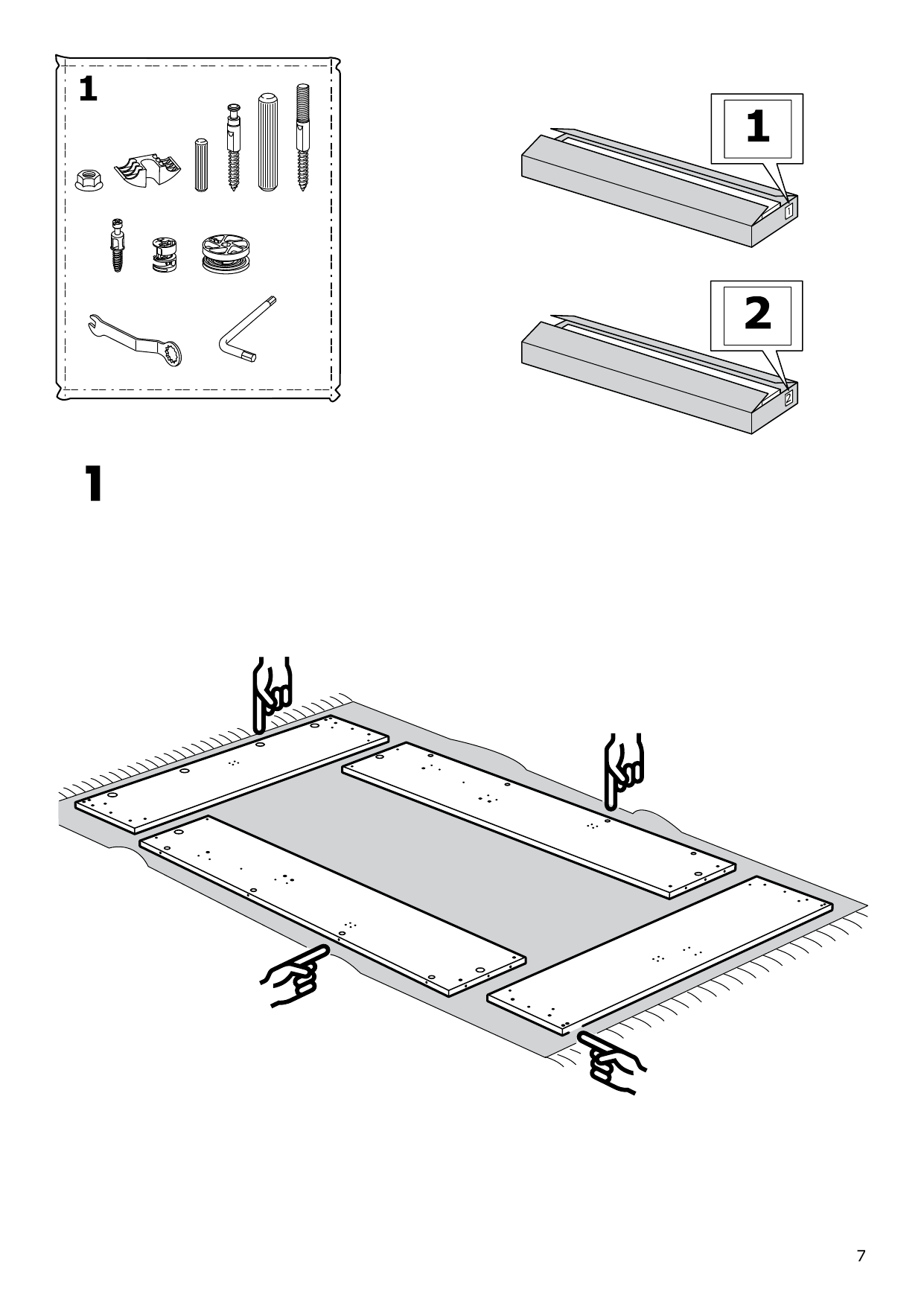 IKEA MALM Storage bed Assembly Instruction - 7