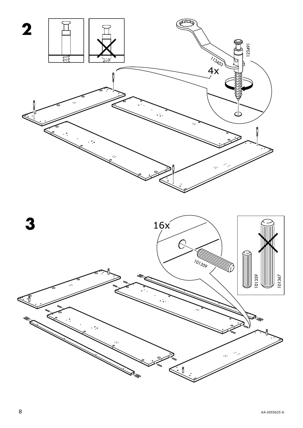 IKEA MALM Storage bed Assembly Instruction - 8