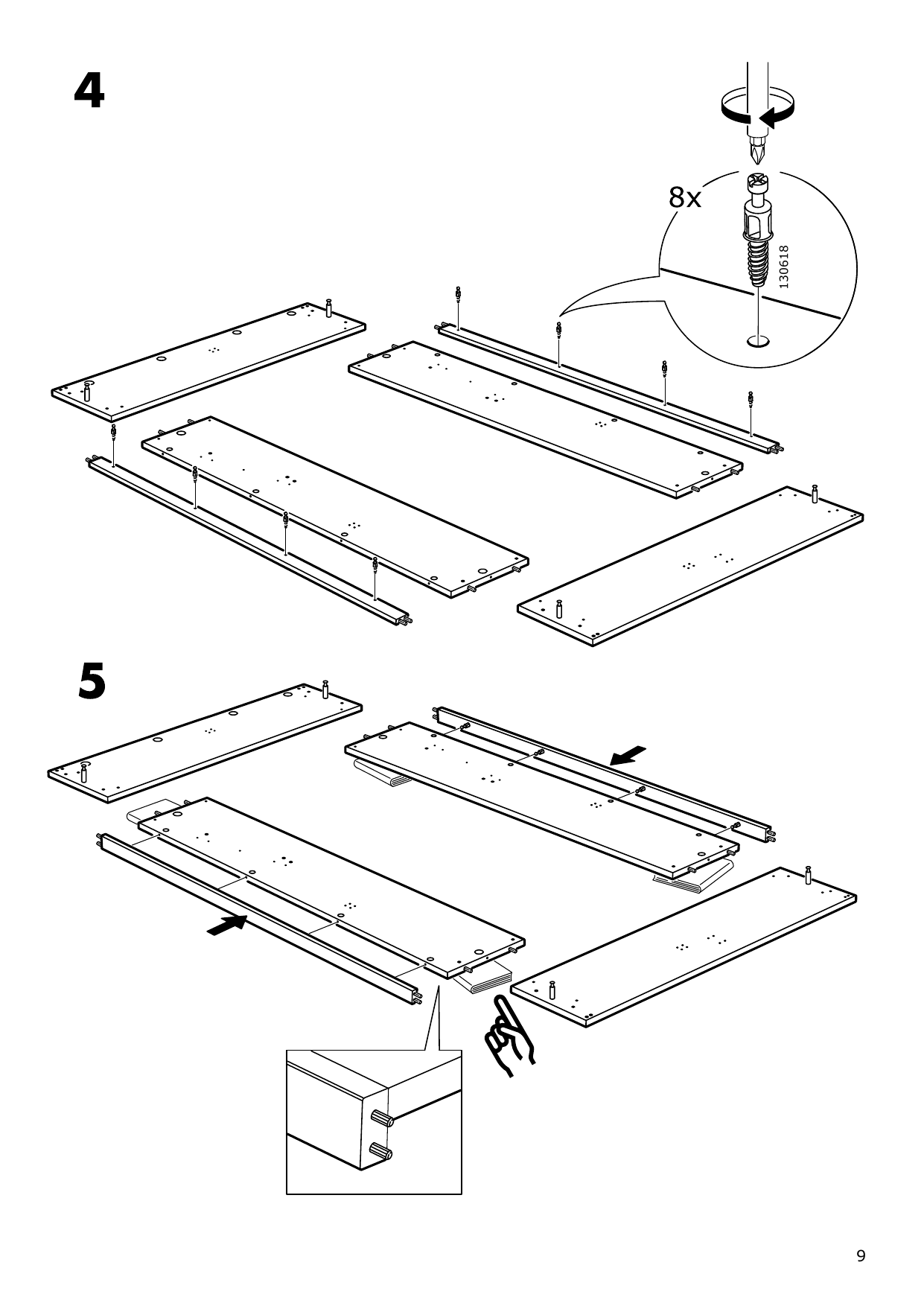 IKEA MALM Storage bed Assembly Instruction - 9