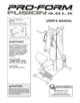 ProForm FUSION 4.0 LX (No. PFSY3415.0) Owner